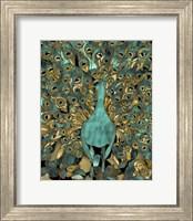 Gold Teal Peacock Fine-Art Print