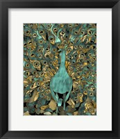 Gold Teal Peacock Fine-Art Print