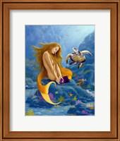 Mermaid and Turtle 2 Fine-Art Print
