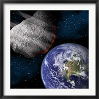 Asteroid Approaching Earth Fine-Art Print