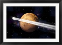 Comet Passing by Mars Fine-Art Print