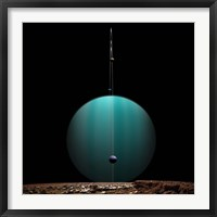Ringed Gas Planet and Moons Fine-Art Print