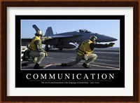 Communication: Inspirational Quote and Motivational Poster Fine-Art Print