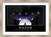 Honor: Inspirational Quote and Motivational Poster Fine-Art Print