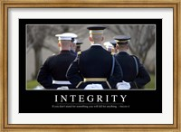 Integrity: Inspirational Quote and Motivational Poster Fine-Art Print