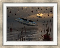 Aliens on UFO's Fine-Art Print