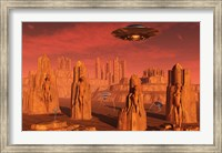 Aliens Leaving Mars Fine-Art Print