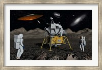 Apollo Astronauts and Alien UFO Fine-Art Print