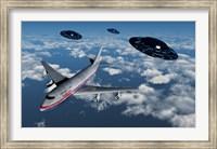 Boeing 747 and UFO's Fine-Art Print