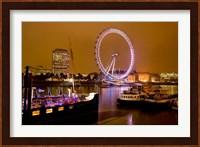 England, London River Thames and London Eye Fine-Art Print