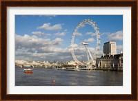 England, London, London Eye and Shell Building Fine-Art Print
