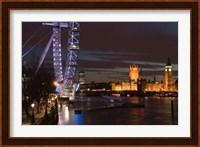 Houses of Parliament and London Eye, London, England Fine-Art Print