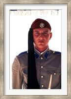 Close Up of Soldier in Traditional Dress, Athens, Greece Fine-Art Print