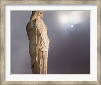 Sculptures of the Caryatid Maidens Support the Pediment of the Erecthion Temple, Adjacent to the Parthenon, Athens, Greece Fine-Art Print