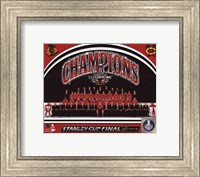 Chicago Blackhawks 2015 Stanley Cup Champions Team Sit Down Photo Fine-Art Print