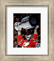 Brent Seabrook with the Stanley Cup Game 6 of the 2015 Stanley Cup Finals Fine-Art Print