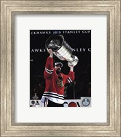 Patrick Sharp with the Stanley Cup Game 6 of the 2015 Stanley Cup Finals Fine-Art Print