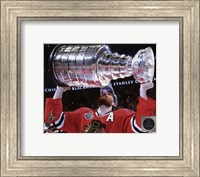 Duncan Keith with the Stanley Cup Game 6 of the 2015 Stanley Cup Finals Fine-Art Print