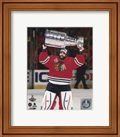 Corey Crawford with the Stanley Cup Game 6 of the 2015 Stanley Cup Finals Fine-Art Print