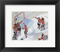 The Chicago Blackhawks celebrate winning Game 6 of the 2015 Stanley Cup Finals Fine-Art Print