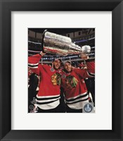 Jonathan Toews & Patrick Kane with the Stanley Cup Game 6 of the 2015 Stanley Cup Finals Fine-Art Print