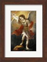 Archangel Michael Hurls the Devil into the Abyss, c. 1665-1668 Fine-Art Print