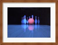 Bowling ball with bowling pins Fine-Art Print