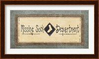 Missing Sock Department Fine-Art Print