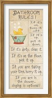 Family Bathroom Rules Fine-Art Print