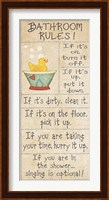Family Bathroom Rules Fine-Art Print