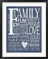 Family - Navy Fine-Art Print