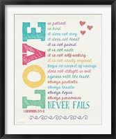 Love Never Fails Color Fine-Art Print