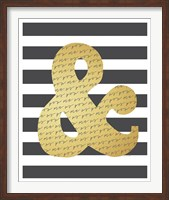 Faux Gold Ampersand Fine-Art Print