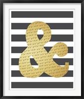 Faux Gold Ampersand Fine-Art Print