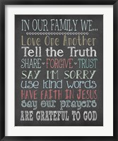 Faith Family Rules Fine-Art Print