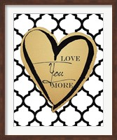 Faux Gold Love You More Fine-Art Print