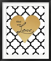 Faux Gold Filled with Love Fine-Art Print