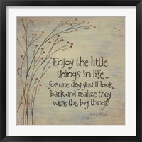 Enjoy the Little Things Fine-Art Print