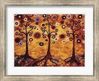 Tree Whimsy Of Three Orange Fine-Art Print