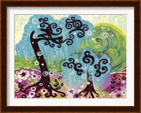 Blue Weeping Willow Whimsy I Fine-Art Print