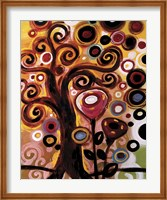 Swirling Tree Whimsy On Orange Fine-Art Print