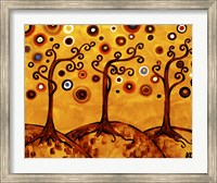 Swirling Trees On Sunset Fine-Art Print