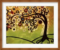 Black And Cream Tree Swirl Fine-Art Print
