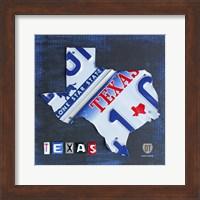 Texas License Plate Map Fine-Art Print