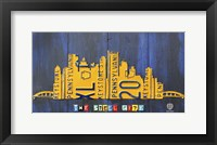 Pittsburgh Skyline License Plate Art Fine-Art Print