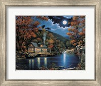 Cabin By The Lake Fine-Art Print