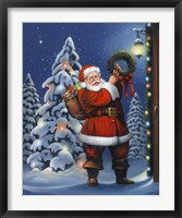 Santa Wreath Fine-Art Print