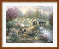 Merriment At Covered Bridge Fine-Art Print