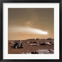 Close pass of Comet C/2013 A1 over Mars Fine-Art Print