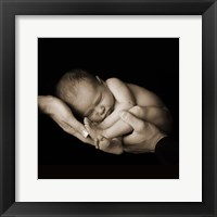 Baby Curled In Hands Fine-Art Print